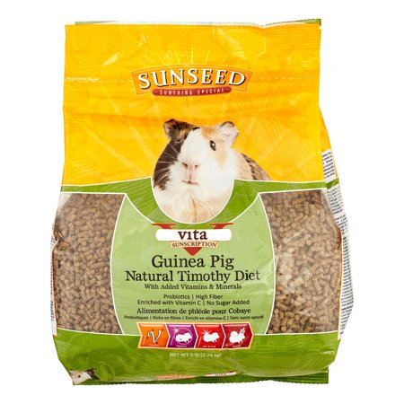 Sunseed Vita Sunscription Natural Timothy Diet Dry Guinea Pig Food, 5 Lb
