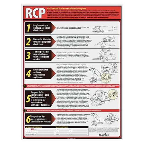COMPLYRIGHT WR1156 Poster, Spanish, 18 in. H x 24 in. W
