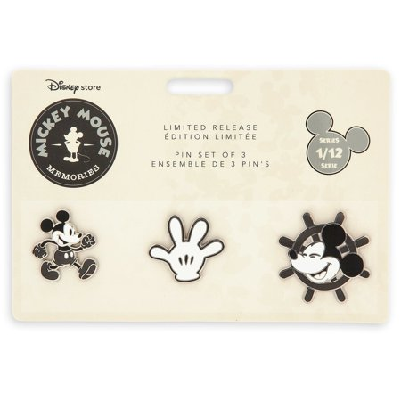 Disney Store Mickey Mouse Memories Pin Set of 3 Limited Release New with - Halloween Disney Pins