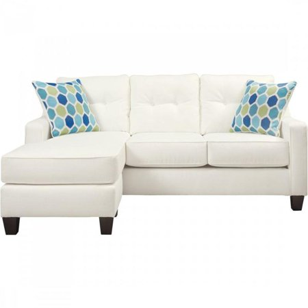 Peachy Ashley Furniture Aldie Nuvella Sofa Chaise In White 6870418 Gmtry Best Dining Table And Chair Ideas Images Gmtryco