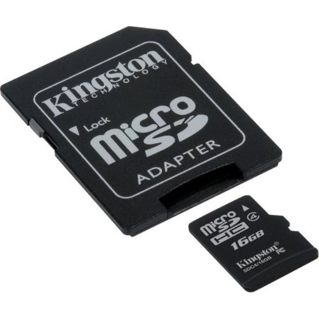 Professional Kingston MicroSDHC 16GB SDHC Class 4 Certified Card for Kodak SPORT // C123 Digital Camera Phone with custom formatting and Standard SD Adapter. 16 Gigabyte