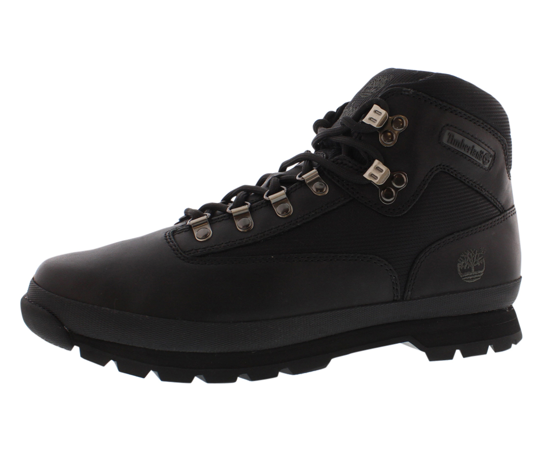 Timberland Euro Hiker Black Black Men's Hiking Boots 56038 Size 10 by Timberland