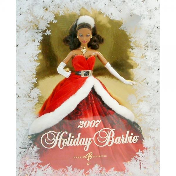 Holiday Barbie 2007 African American by
