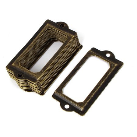 Unique Bargains 70mm x 33mm Vintage Style Metal Decorative Tag Card Label Holders 20pcs