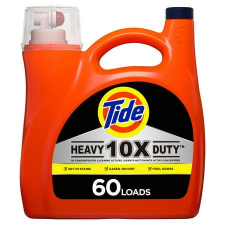 Tide Heavy Duty HE, 60 Loads Liquid Laundry Detergent, 115 Fl Oz