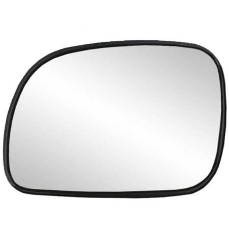 33013 - Fit System Driver Side Heated Mirror Glass w/ backing plate, Chrysler Town & Country 96-04, Caravan 96-04, Grand Caravan 01-04, 5 1/ 8