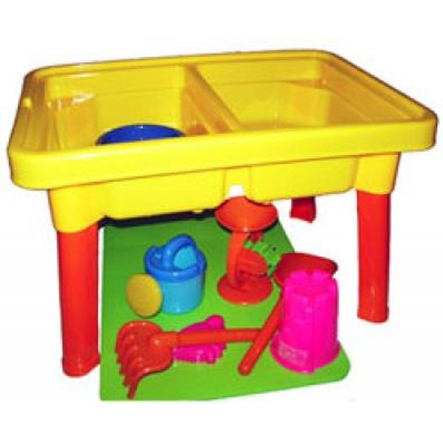 Sandbox Castle 2-in-1 Sand and Water Table with Beach Playset (Gift Idea)