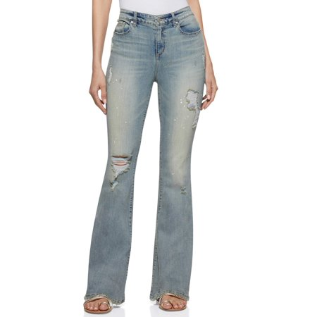 Scoop Women's High-Rise Flare Jeans White High Rise
