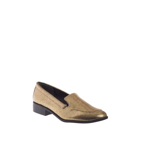 Gold Footwear (BC Footwear Layout Low Heel Loafer - Gold Exotic )