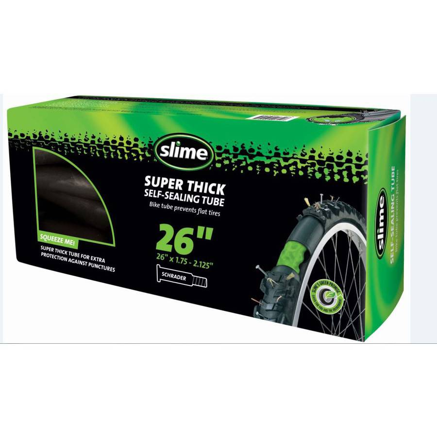 "Slime Super Thick Self-Sealing Replacement Bike/Bicycle Inner Tube, Schrader 26""x1.75-2.125"" - 30081"
