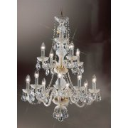 Monticello Chandelier Light in Gold