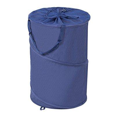 Internet S Best Circle Pop Up Laundry Hamper Collapsible Bag With Mesh Drawstring Lid