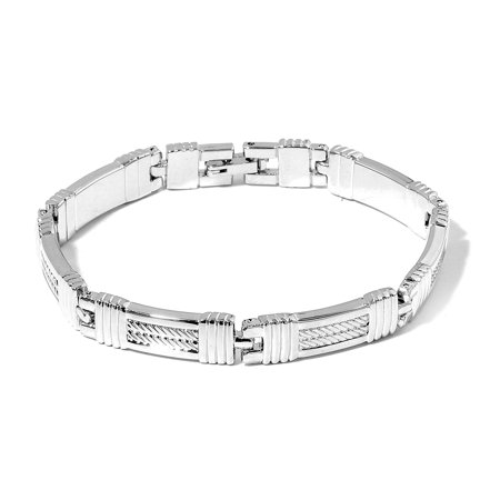 Carbide Magnetic Bracelets (Magnetic Jewelry Silvertone Bracelet for Women 7.50