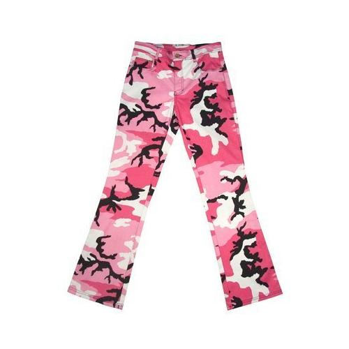 Rothco Womens Pink Camo Stretch Flare Pants