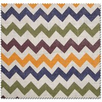 Textile Creations Jute Home Decor Burlap Chevron Multi-Color Fabric, per Yard