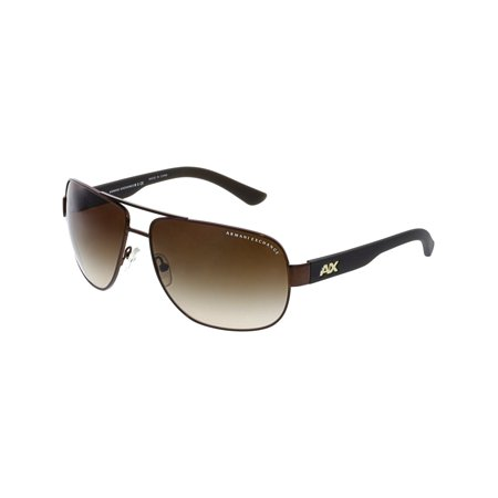 Armani Exchange Men's Gradient AX2012S-605813-62 Brown Rectangle (Armani Folding Sunglasses)