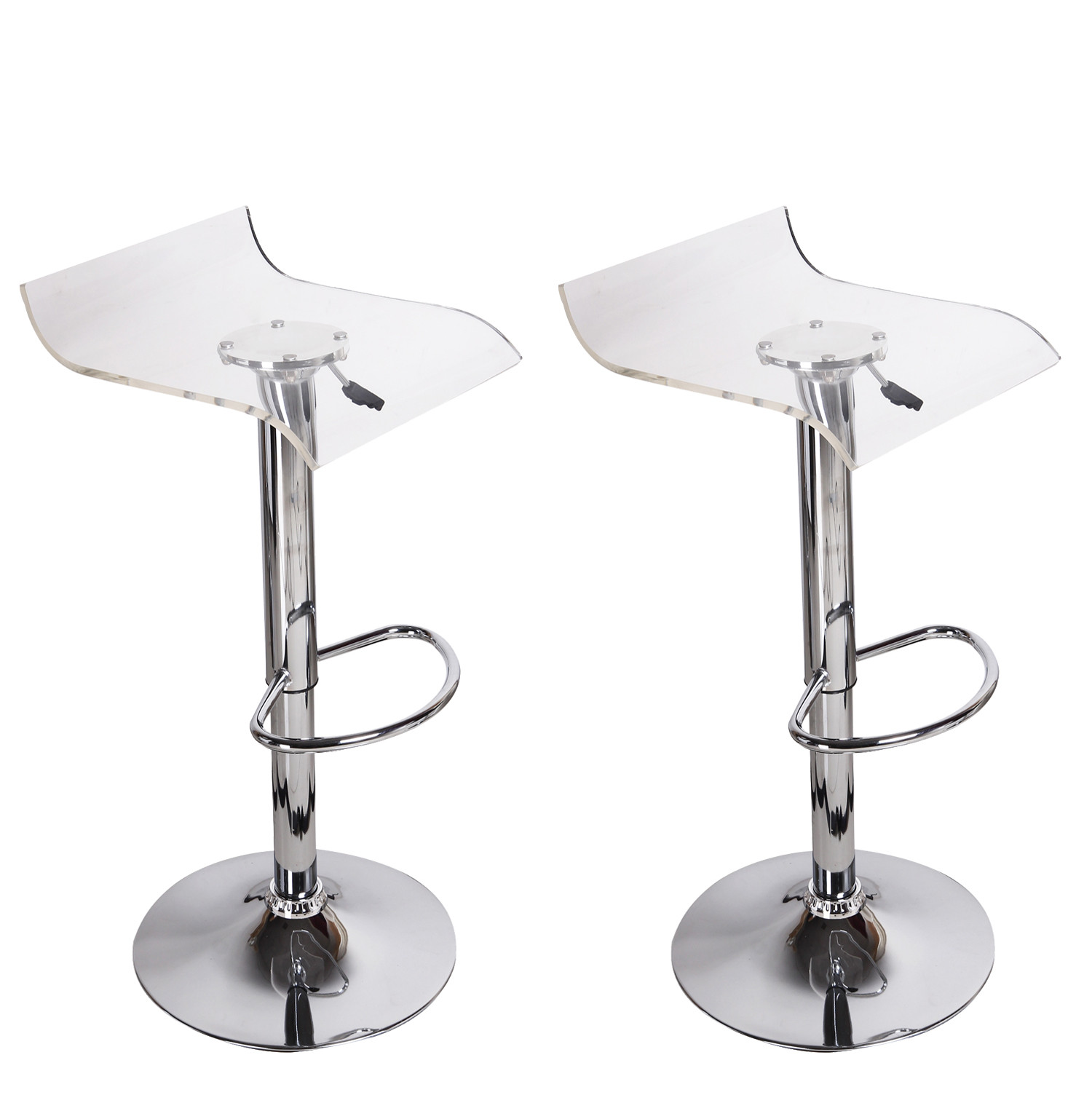 furnistars karlsborg transparent acrylic micro back bar stools set of two