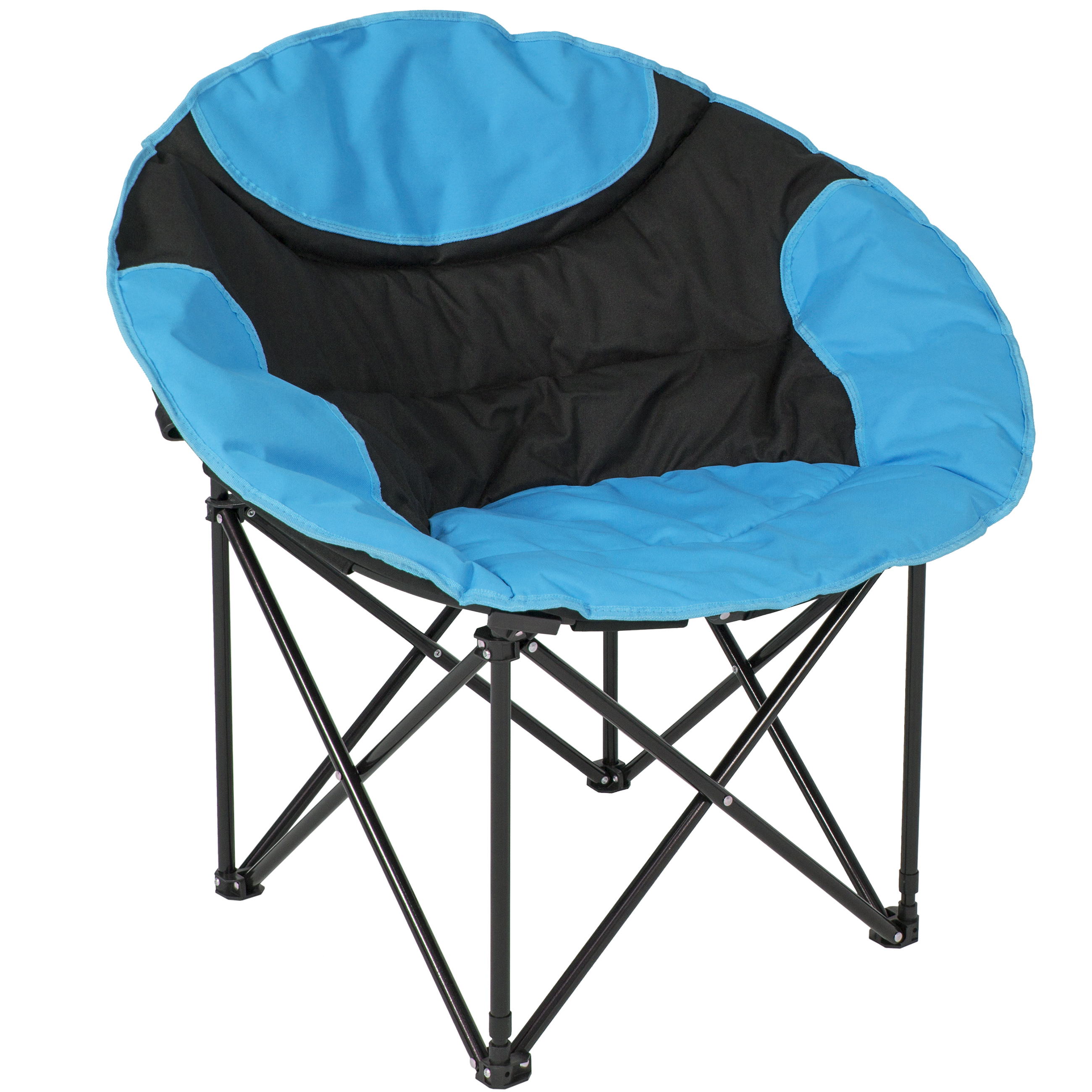 Best Choice Products Outdoor Foldable Lightweight Camping Sports Chair w/ Large Pocket, Carrying Bag - Blue