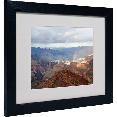 "Trademark Fine Art ""Grand Canyon Rainbow"" Matted Framed Art by Pierre Leclerc"