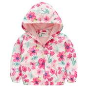 BOBORA Girl Floral Hoodie Jacket