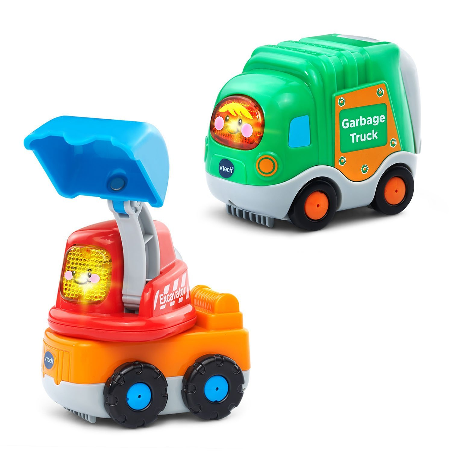Go Go Smart Wheels - 2-pack with Garbage Truck and Excava...