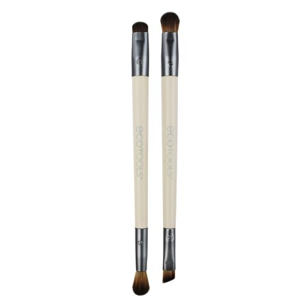 EcoTools Eye Enhancing Eyeshadow Brush Duo Set (2 Brushes) Makeup (Ecotools Boho Luxe Travel Make Up Brush Set)
