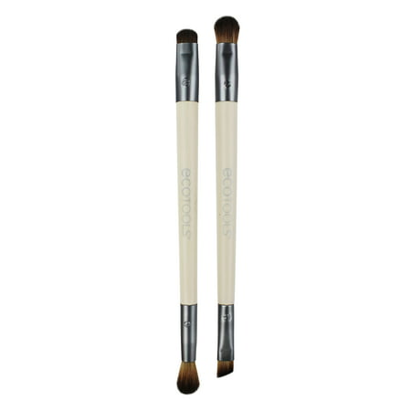 EcoTools Eye Enhancing Eyeshadow Brush Duo Set (2 Brushes) Makeup (Best Brush Set For Eye Makeup)