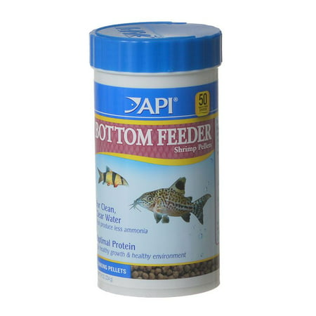 - API Bottom Feeder Shrimp Pellets, Fish Food, 7.9 oz