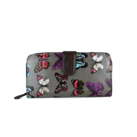 Miss Lulu Women's Designer Oilcloth Owl Spot Polka Dots Folded Zip Wallet Purse Bag 2 -