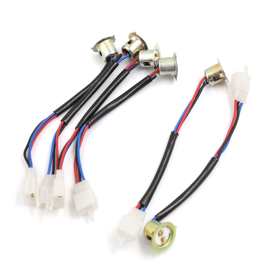 Unique Bargains 6 Pcs 3 Pins Pre-Wired Headlight Head Lamps Socket Holder for DAYANG Motorcycle