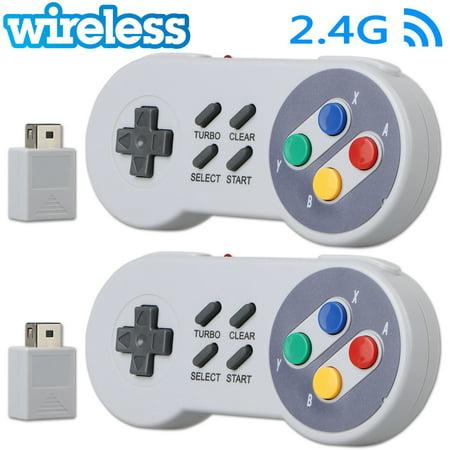 2-pack Wireless Gamepad Controller for Super Nintendo SNES Classic Mini  Edition Console