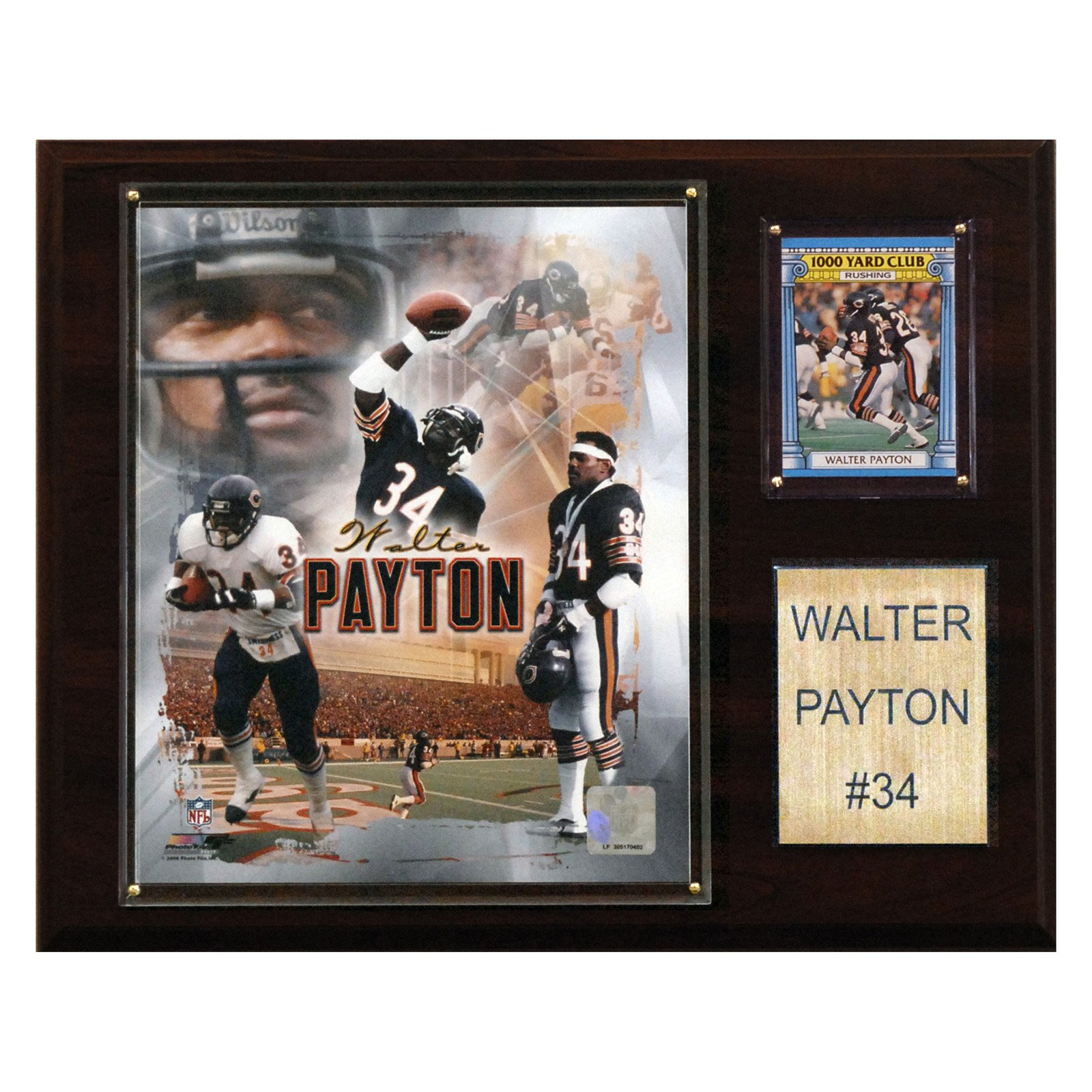 C&I Collectables NFL 12x15 Walter Payton Chicago Bears Player Plaque