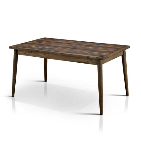 Furniture of America Lepa Mid-Century Dining Table, Natural Tone