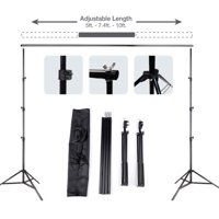 Zimtown 10ft Adjustable Background Support Stand Photography Video Backdrop Kit Black