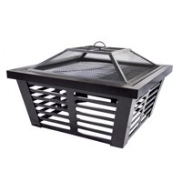 Pleasant Hearth OFW191S Hudson Steel Fire Pit