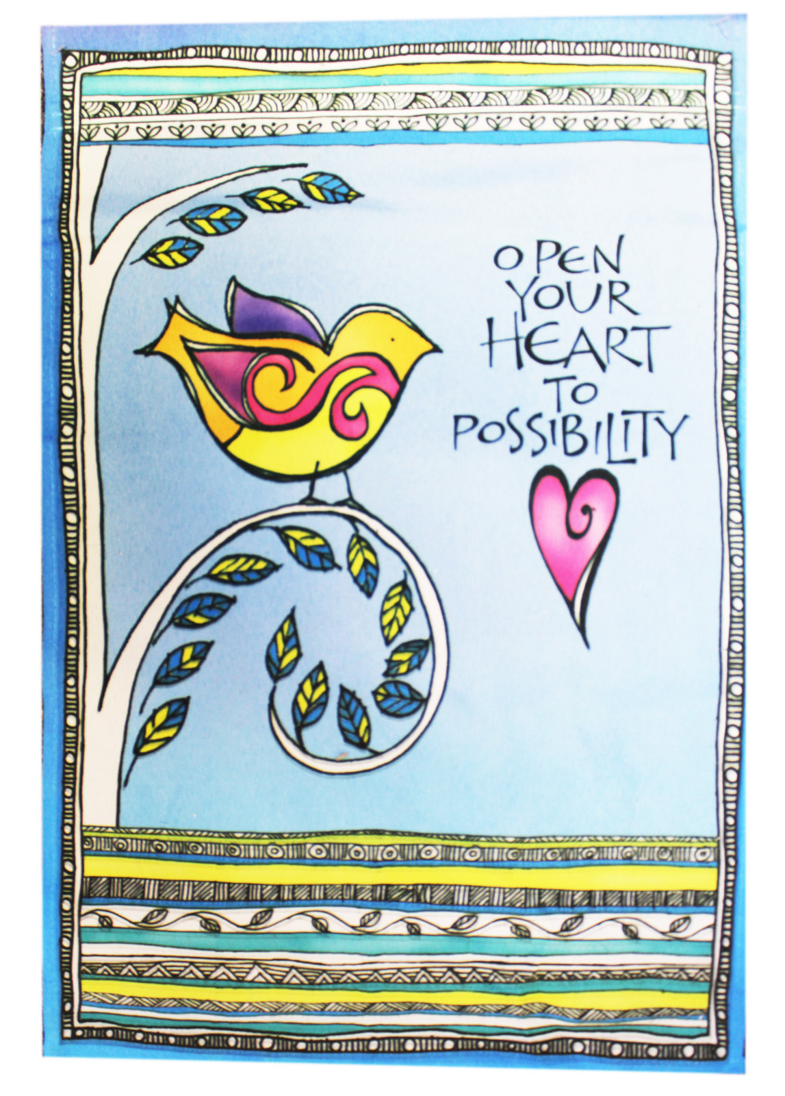 Garden Accents Open Your Heart To Possibility Garden Flag By Ganz (No Stand) by