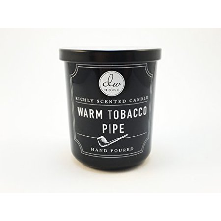 Hand Poured Warm Tobacco Pipe Richly Scented Candle Single Wick 4 oz by DW Home (Dw Candles Halloween)