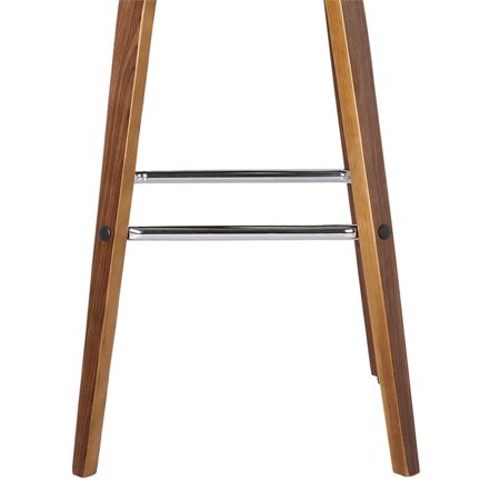 """Hawthorne Collections 30"""" Faux Leather Bar Stool in Gray - image 4 of 7"""