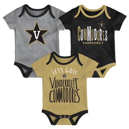 Vandy Tender (Vanderbilt University Vandy Infant Creeper Set Lil Tailgater 3 Pack)