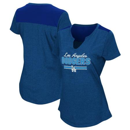 Women's Majestic Royal Los Angeles Dodgers Plus Size Switch Hitter T-Shirt (Twitch T Shirt)