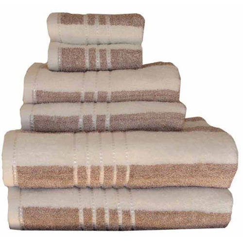 Revere Mills Soft Touch Stripe Oversized Yarn Dyed Striped 6-Piece Towel Set