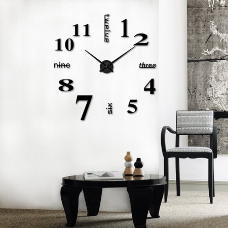 Modern Gold Machine - CARLTON Acrylic Modern DIY Wall Clock 3D Mirror Surface Sticker Home Office Decor