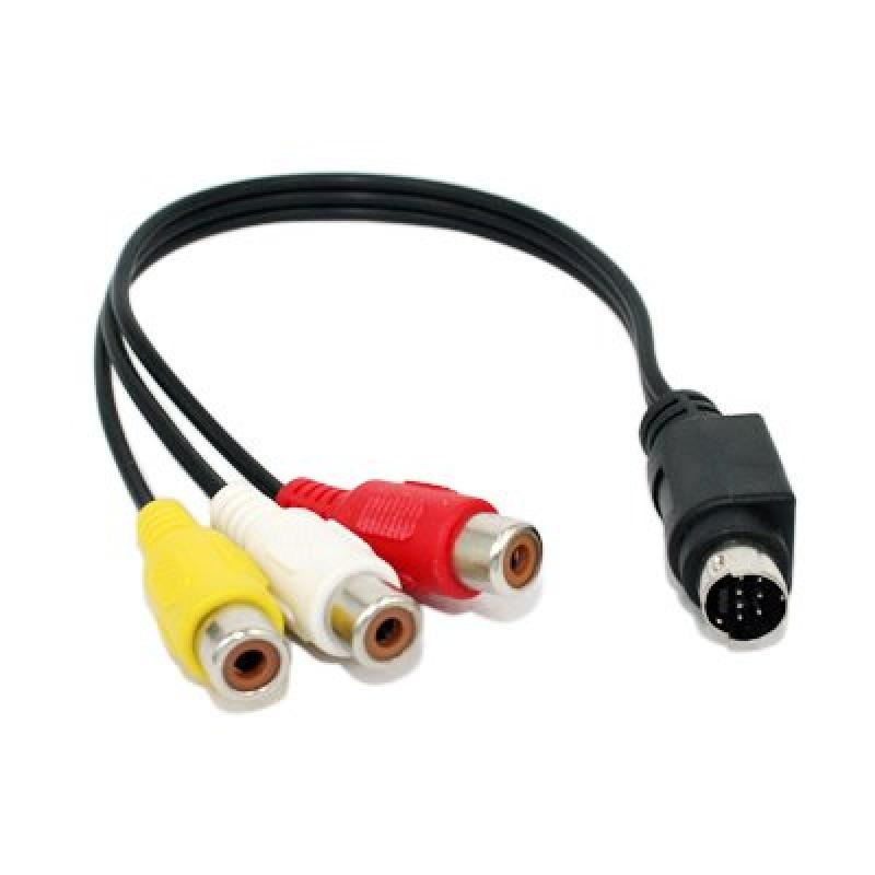 Dynex DX-IPAVC - Video / audio cable - composite video / audio - RCA (M) - mini-phone 3.5 mm 4-pole (M) - 6 ft
