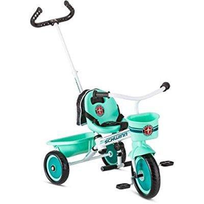 Schwinn s6771 easy steer trike, teal, 2 modes of child or...