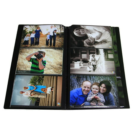 Photo Album / Portfolio for 4 x 6 Inch Photos with Protective Poly Case Space Saver (Holds 300 Photos)