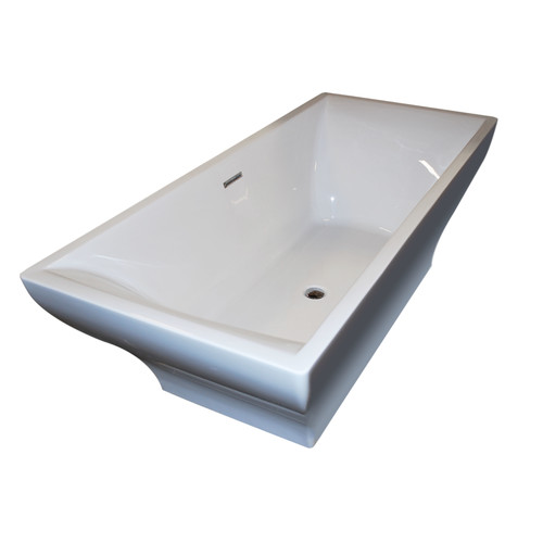Spa Escapes Madre 70.75'' x 31.63'' Freestanding One Piece Soaking Bathtub with Center Drain