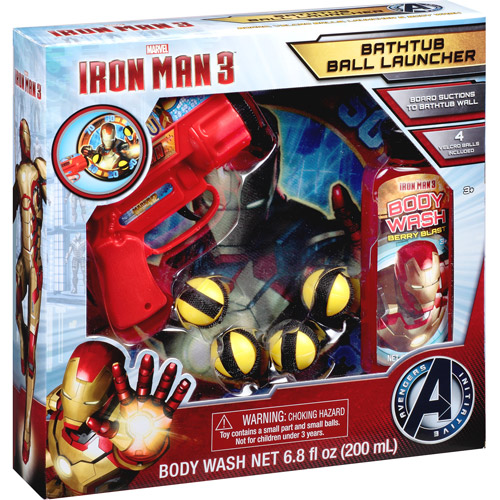 Marvel Iron Man 3 Bathtub Ball Launcher Gift Set, 7 pc