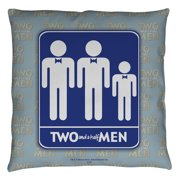 Two And A Half Men Men Throw Pillow White 14X14