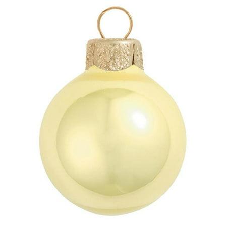 Northlight 8ct Pearl Glass Ball Christmas Ornament Set 3.25