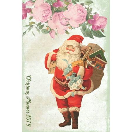 Ultimate Christmas Planner - Christmas Shopping Tracker: Santa Organiser Budgets Shopping Lists Countdown Journal, Christmas Wish List Gift Card Address Book And Tracker, Flower Theme (Paperback) ()